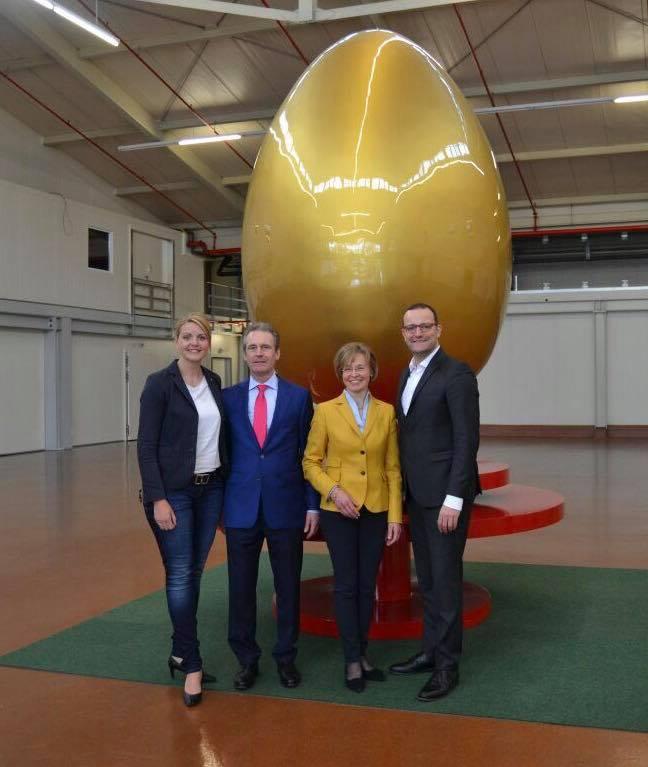 Unternehmerfrühstück zusammen mit Parl. Staatssekretär Jens Spahn bei der Familie Tusky in Metelen